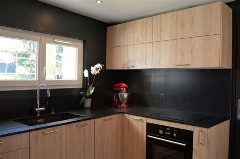 cuisine bois et noir nouvelle cuisine en bois et noir moderne cuisine