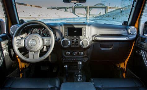 jeep rubicon white interior car and driver