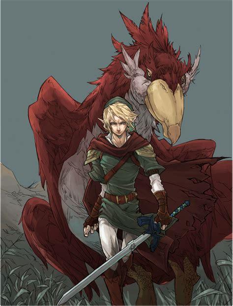 Wondefull Fan Art Link And His Loftwing Legend Of Zelda