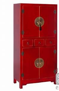Meuble De Rangement Oriente Rouge Esprit D39Autrefois 51156