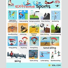 Types Of Sports Useful Sports Vocabulary In English  7 E S L