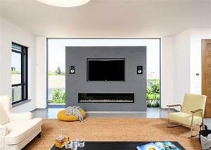 Tv An Wand Anbringen : 34 ideen f r kamin und fernseher an einer wand ~ Markanthonyermac.com Haus und Dekorationen