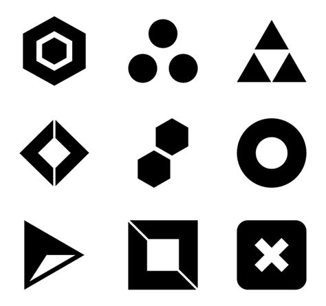 Abstract Shape Png by Geometric Shapes Icons 1 833 Free Vector Icons