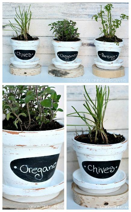 Window Seal Pots chalkboard herb pots hometalk in person