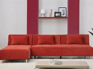 canape d39angle convertible rouge salon living room With canape convertible rouge