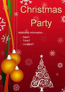 Christmas Party Editable Poster