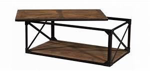 Table Basse Bois Foncé : table basse rectangulaire artisan commandez nos tables basses en bois vieilli petit prix rdv ~ Teatrodelosmanantiales.com Idées de Décoration