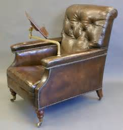 A, Large, Victorian, Leather, Reading, Chair