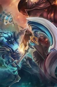 Lucian vs. Thresh fan art | League of Legends