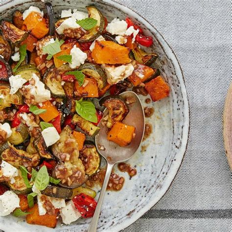 Mary Berry's Roasted Vegetables With Feta And Herbs