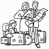 Traveling Vacation Coloring Printable Activity sketch template