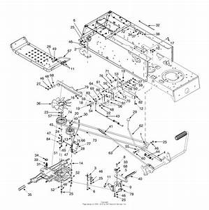Mtd 13an698g205  2000  Parts Diagram For Drive  Frame