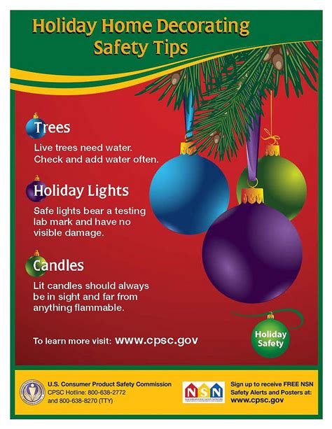 holiday home decorating safety tips cpsc gov
