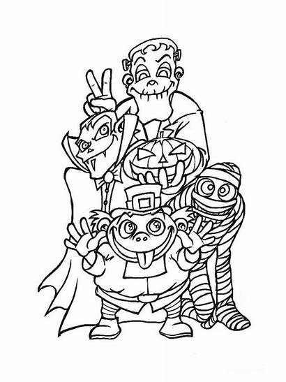Halloween Monstres Coloriage Coloriages