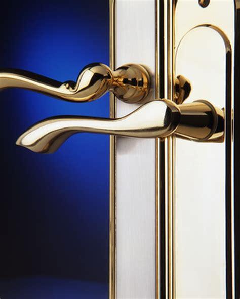 clean brass door handles hunker