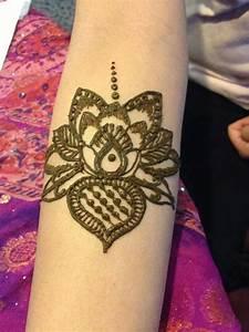 Lotus flower henna design temporary tattoo. | The Henna ...