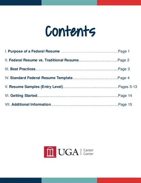 Federal Resume Handbook by Uga Federal Resume Guide