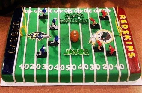ravens redskins football field cake football nfl