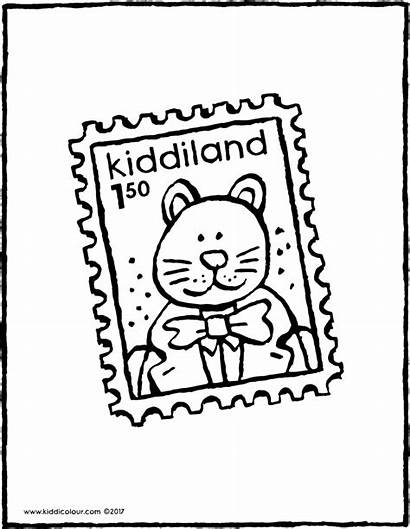 Timbre Poste Postzegel Briefmarke Kleurplaat Stamp Coloriage