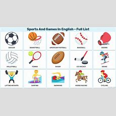 Materials To Learn English Sports Vocabulary