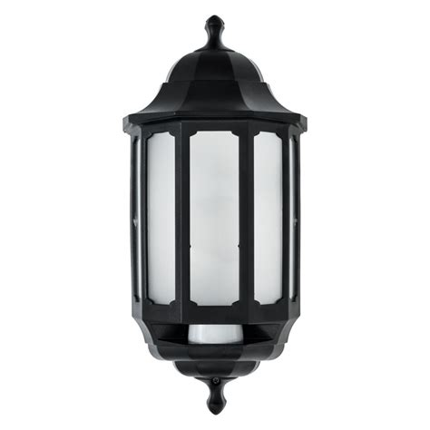 asd hi lo coach led half lantern outdoor wall light with pir sensor lighting direct