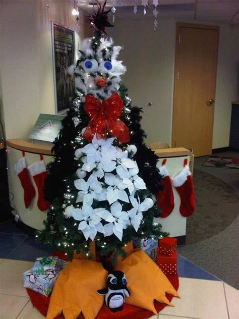 christmas tree decorating contest ideas happy penguin decorations littleton branch tree decorating contest