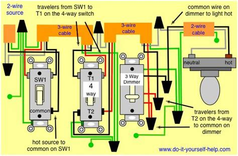 Wiring Diagram Way Dimmer Interiors