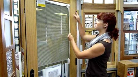 The blinds can be raised, lowered. Eagle Between-Glass Blinds for Door Window - YouTube