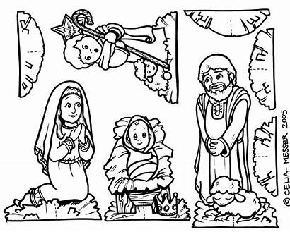 Nativity Coloring Printable Pages Scene Cut Jesus