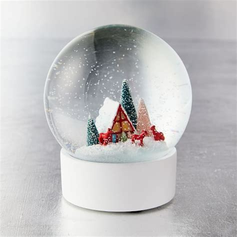Vintage Snow Globe   Deer   west elm