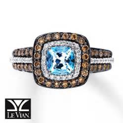 le vian chocolate engagement rings le vian aquamarine ring 3 4 ct tw diamonds 14k vanilla gold