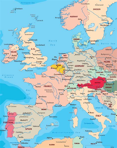 Europe Occidentale Carte by Map West Europe