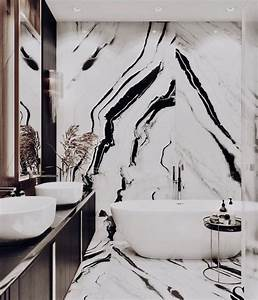 A, Glamorous, Black, And, White, Bathroom, Glam, Vibe, From, The