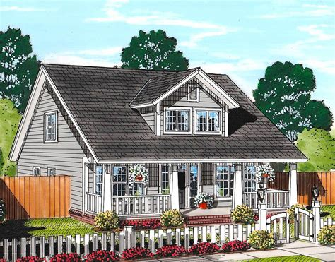 Cozy Country Cottage With Garage Option 52223WM