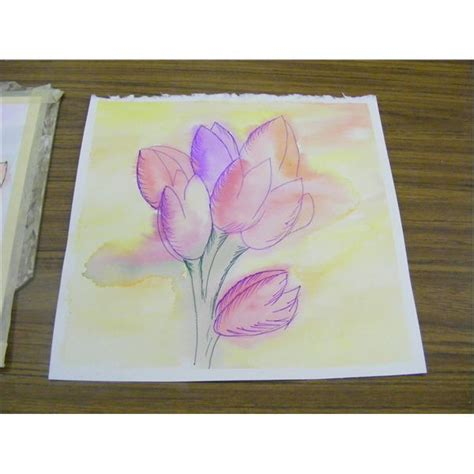 easy watercolor art project  fall  spring leaves