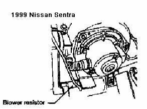 2007 Nissan Altima Blower Motor Resistor Location