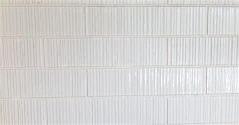 Ann Sacks tile, Savoy Ribbed in White   textiles/wallpaper