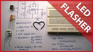 Flashing Led Circuit Using 555 Timer