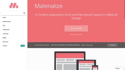material design css frameworks   compared