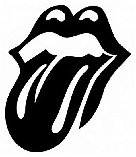 rolling stones hot lips vector art dxf file