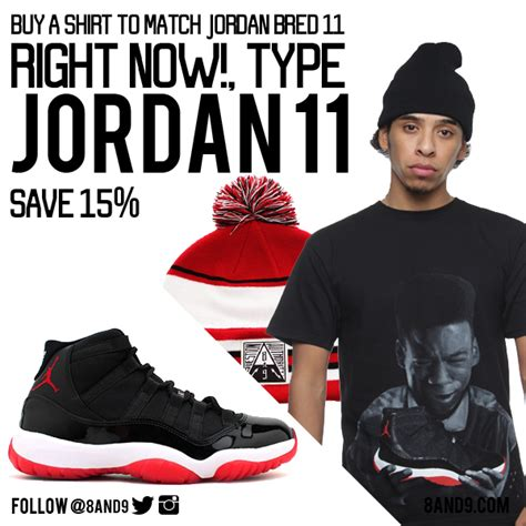 Jordan bred 11 shirt   8u00269 Clothing Co.