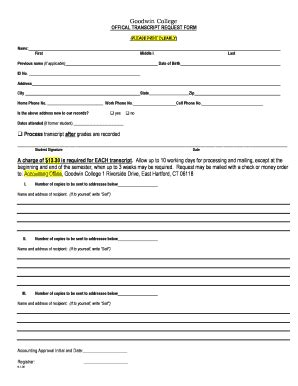 goodwin college complaint fill  printable