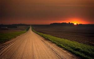 1920x1200 Stunning Road Field Red Sunset desktop PC and ...