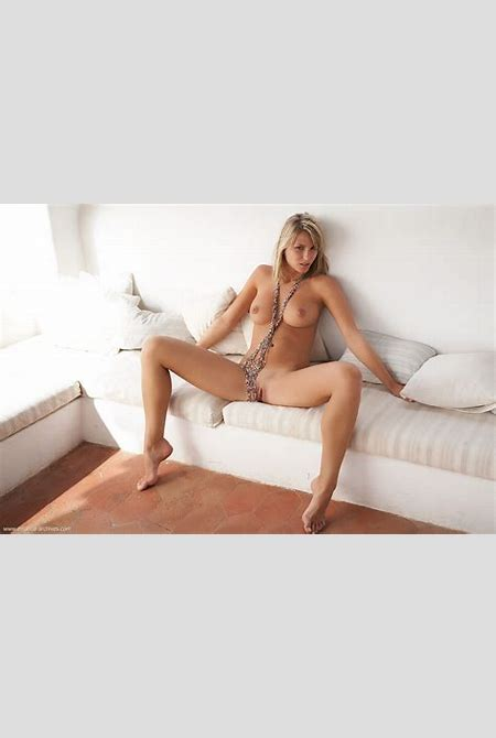 Wallpaper danae, blonde, green eyes, natural tits, couch, spread legs, pussy, boobs, spreading ...
