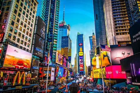 york panorama bild des times square place