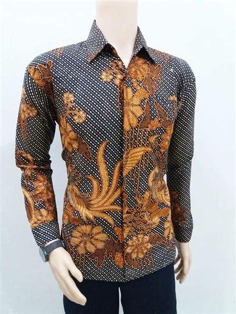 jual kemeja batik pria lengan panjang batik pekalongan di lapak batik apw pekalongan anggie pw
