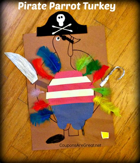 kindergarten homework  pirate turkey disguise
