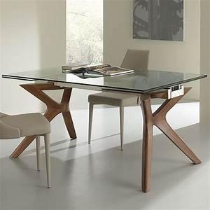 Table Bois Metal Avec Rallonge : table extensible en verre et et bois nouvo meuble ~ Melissatoandfro.com Idées de Décoration