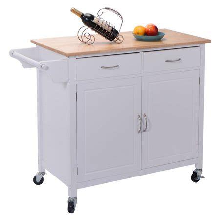 kitchen utility cart costway rolling kitchen cart island wood top storage