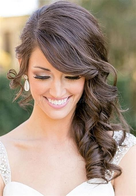 side swept hair     bridal google search